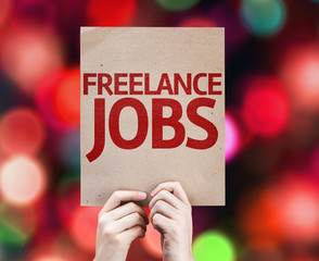 Freelance Jobs card with colorful background
