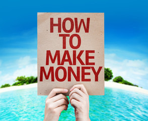 How To Make Money card with beach background