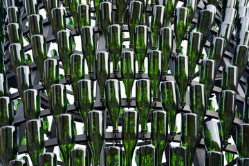 botellas de vidrio verde