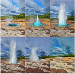 Card - collage of the geyser