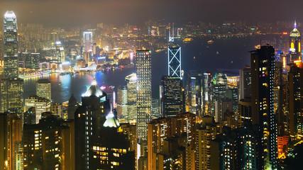 Night scene in Hong Kong