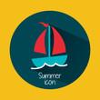 summer icon - 74907209
