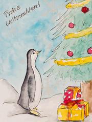 Weihnachtskarte, Frohe Weihnachten