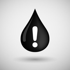 Oil drop icon with an exclamation sign