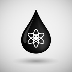 Oil drop icon with an atom