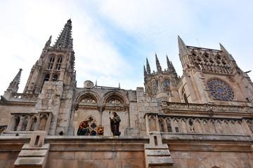 portal de belen en la catedral de burgos en navidad