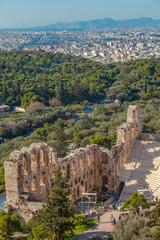 Amphitheater an der Akropolis in Athen