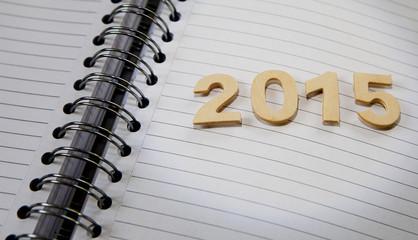 2015 chiffres en bois agenda