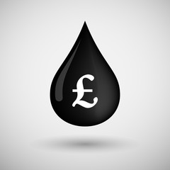 Oil drop icon with a pound sign