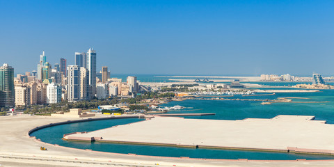 Bird view panorama of Manama city, Bahrain