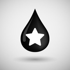 Oil drop icon with a star
