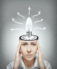 Woman generates the idea