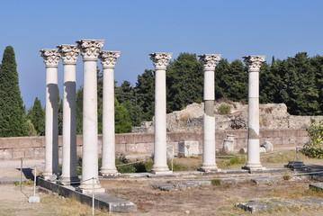 Asclepium in Kos island in Greece