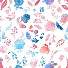 Watercolor nature pattern