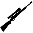 Hunting Rifle Silhouette - 74910426