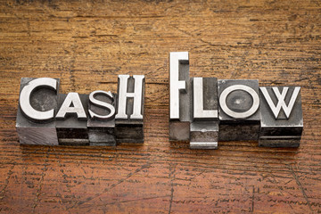 cash flow in metal type