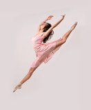 jumping professional ballet girl dancer