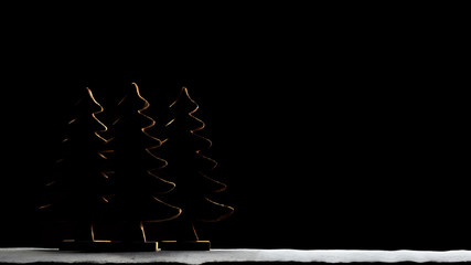 Silhouette of Christmas Tree