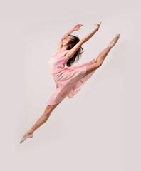 jumping professional ballet girl dancer