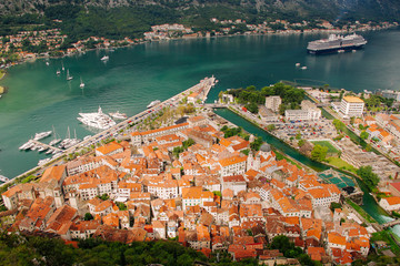 Kotor old town a bird's-eye view