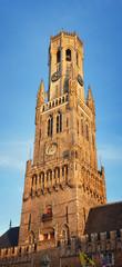 Dom Tower in Utrecht, Netherlands at sunset