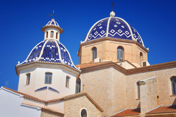 Our Lady of Solace Church in Altea, Costa Blanca