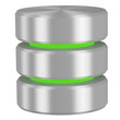Database icon with green elements - 74911201