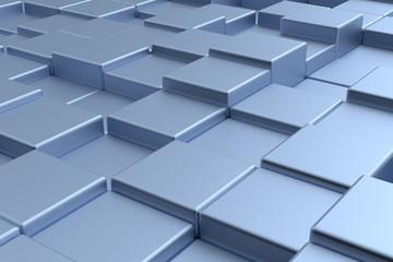 Modern futuristic cubes construction