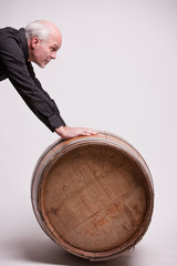 man with a very big barrel