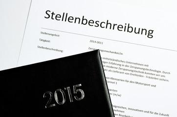 Stellenbeschreibung mit Kalender 2015