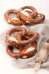 Pretzels in a rustic style