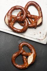 Fresh baked pretzel