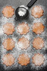 Gingerbread cookies. Christmas baking