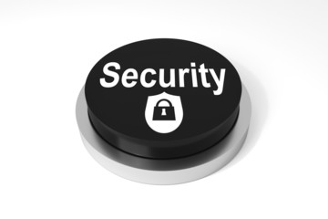 black round button security symbol