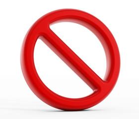 Forbidden symbol