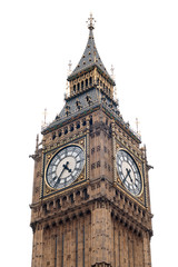 London - Big Ben isolated on white