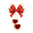Valentines decoration with hearts