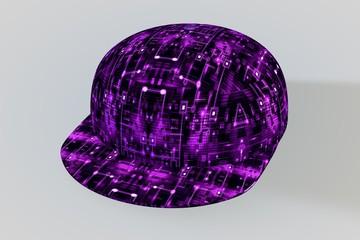 Purple Circuit Baseball Cap