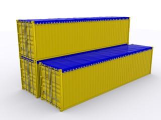 Drei Open top Container