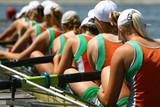 women's rowing team. Eight.