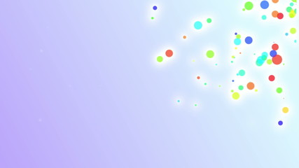 Light blue background with colored holiday particles