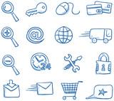 Icon set internet & shopping - 74915844