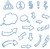 Icon set arrwos & signs - 74915854