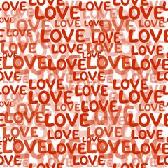 Love word seamless pattern