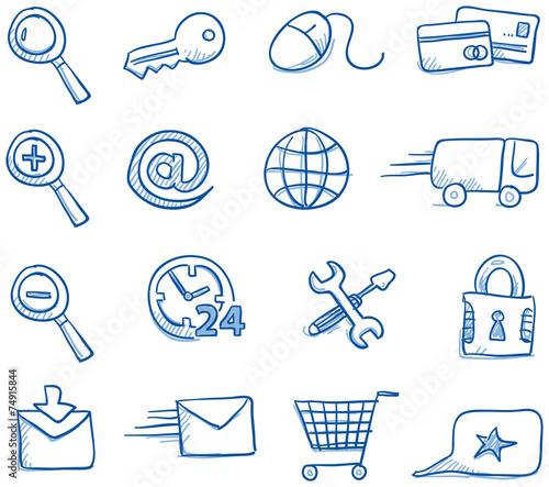 Fototapeta Icon set internet & shopping