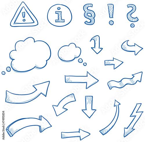 Icon set arrwos & signs