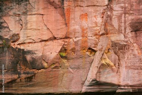 Sandstone cliffs in Gauja national park, Latvia - 74915894