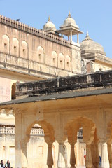 Amber Fort in Jaipur, architectural detail of the building