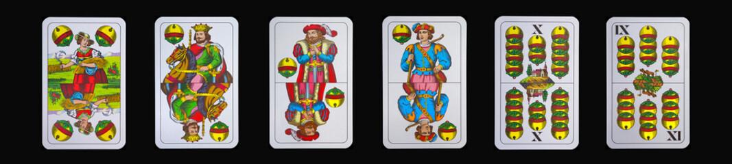 Spielkarten - Schnapskarten  SCHELLEN