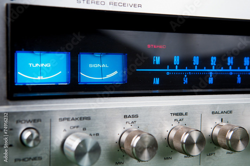 Leinwanddruck Bild Stereo receiver